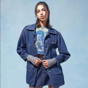 ANNA SUI x URBAN OUTFITTERS Long Denim Jacket 1316